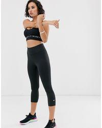 Nike - Черные Леггинсы-капри One-черный - Lyst