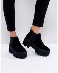Pull&Bear - Flatform Ankle Boot - Lyst