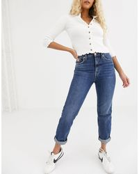 River Island Mom Jeans - Blue