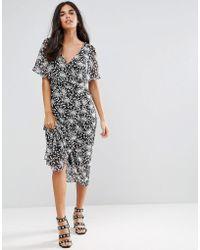Madam Rage Ditsy Floral Maxi Dress - Black