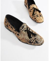 ASOS - Loafers In Floral Jacquard Print - Lyst