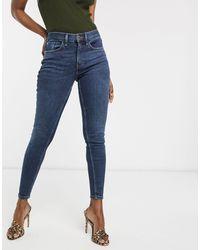 River Island Amelie - Jeans skinny lavaggio blu scuro