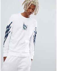 adidas Originals - T-shirt da tennis a maniche lunghe bianca DH3916 - Lyst