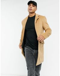 Another Influence Светло-коричневое Пальто Из Ткани С Добавлением Шерсти -коричневый - Многоцветный