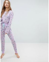Chelsea Peers - Shower Cats Long Pyjama Set - Lyst