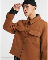 ASOS Camicia giacca - Marrone