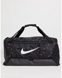 Nike Сумка С Логотипом-галочкой Brasilia 9.0 - Черный