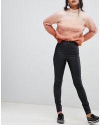 Vila Coated Skinny leggings - Black