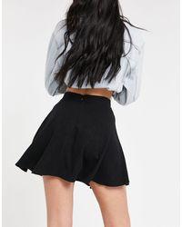 ASOS Asos Design Tall 90s Linen Flippy Mini Skirt - Black