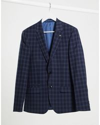 River Island Skinny Suit Jacket - Blue