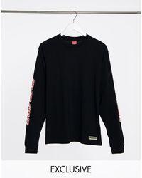 Santa Cruz - Shadow Langärmliges, schwarzes Shirt mit bedrucktem Ärmel Exklusiv bei ASOS - Lyst
