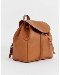 ASOS Soft Minimal Backpack - Brown
