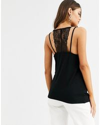 Y.A.S - Lace Trim Cami Top With Back Detail - Lyst