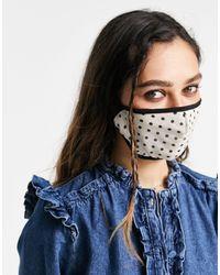 TOPSHOP Masque en tissu à pois s - Noir