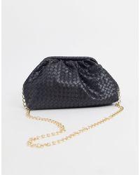 Glamorous Slouchy Pillow Clutch Bag - Black