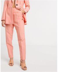 ASOS – Schmal geschnittene Anzughose - Mehrfarbig