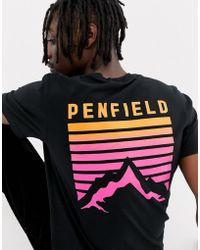 Penfield Caputo Back Print T-shirt - Black