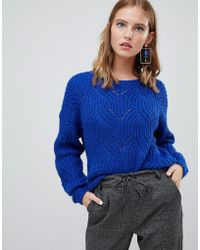 ONLY - Cable Knit Jumper - Lyst