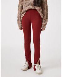 Pull&Bear Рыжие Мягкие Леггинсы От Комплекта -светло-коричневый - Красный