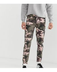 ASOS - Tall Slim Jeans In Camo Print - Lyst