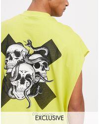 Collusion Sleeveless T-shirt - Yellow