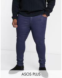 ASOS - Plus - Jean élégant enduit super skinny - Lyst