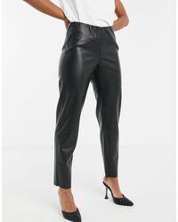 Noisy May Premium Leather Look legging - Black