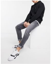 River Island Tapered Jeans - Gray