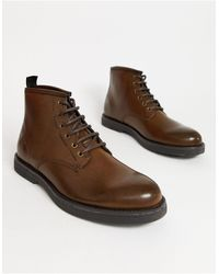 TOPMAN Lace Up Boot - Brown
