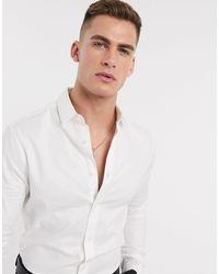ASOS Белая Оксфордская Рубашка Скинни - Белый