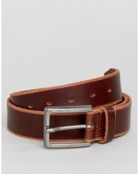 Esprit - Leather Belt In Brown - Lyst