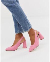 Faith Roze Slingback-schoenen Met Ronde Hakken