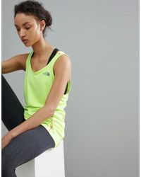 The North Face - Women's Ambition Tank Vest In Yellow - Lyst