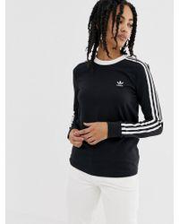 35c4cc41060b3 adidas Originals Originals Long Sleeve T-shirt With Three Stripe ...