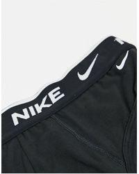 Nike Набор Из 3 Пар Черных Хлопковых Эластичных Трусов -черный