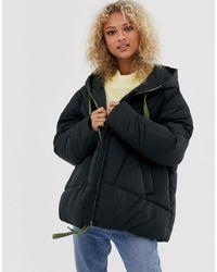 Free People Hailey Padded Hooded Jacket-black