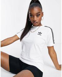 adidas Originals Adicolor Three Stripe T-shirt - White