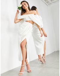 ASOS Drape Front Bridal Skirt - White