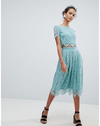 New Look Lace Two-piece Midi Skirt - Green