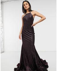 Jovani Racer Neck Maxi Dress - Black