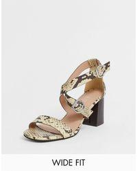 New Look Pu Multi Strap Block Heeled Sandal - Multicolour