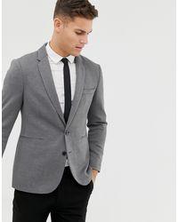 Burton Pique Blazer - Grey