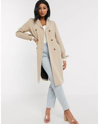 UNIQUE21 Belted Trench - Natural