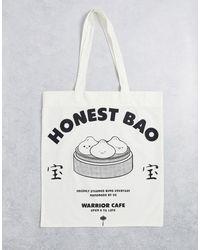 ASOS Tote Bag With Food Print - White