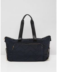 ASOS Gold Zipped Holdall With Trainer Compartment - Black
