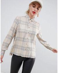 Stradivarius - Check Long Sleeve Shirt - Lyst
