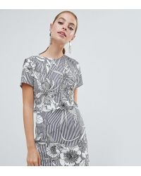 Missguided - Floral Open Back Mini Dress - Lyst