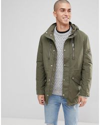 Only & Sons - Light Weight Parka With Multi Pockets - Lyst