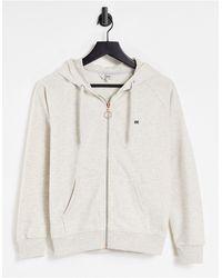 Lee Jeans Lee Zip Up Ring Detail Logo Hoodie - Grey