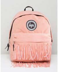 Hype - Backpack With Fringed Pocket - Lyst